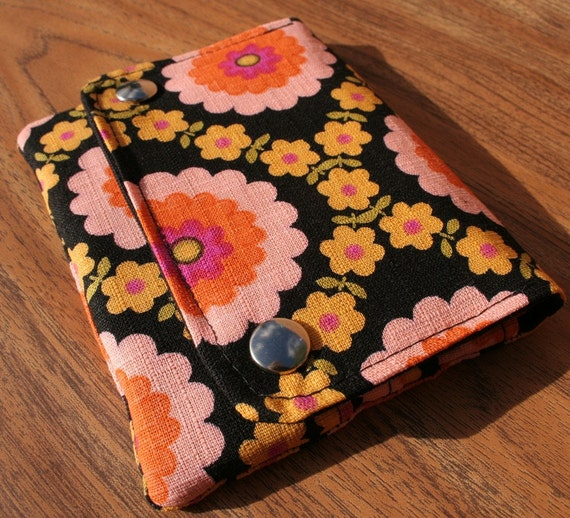 FREE SHIPPING - Pink Flower Power - Multi Pocket Pouch