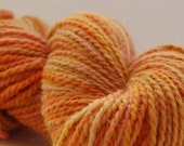 Marigold Orange, Hand-Dyed Yarn, Worsted, merino mohair