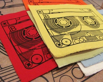 screenprinted mixtape patch