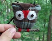 Fabric Owl on a Branch Wall Hanging