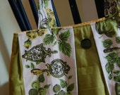 Kitchen Green Curtain Bag