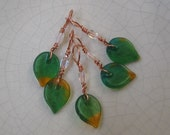 Stitch Markers - Deep Green Leaves