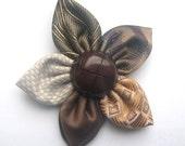 Neck-tie flower pin