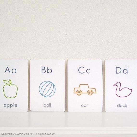 large alphabet flash cards - printable pdf