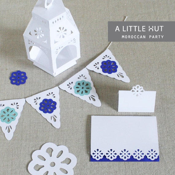 Moroccan inspired party set - DXF and SVG cutting files
