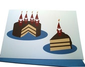 Gnome Slice Birthday Cards - Set of Four (4)
