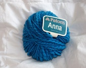 "Patons ""Anna"" Blue Wool Blend Yarn"