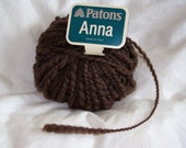 "Reserved for samwestley (Patons ""Anna"" Brown Wool Blend Yarn)"
