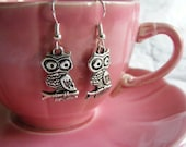 cute hoot owl earrings  -- gift packaged