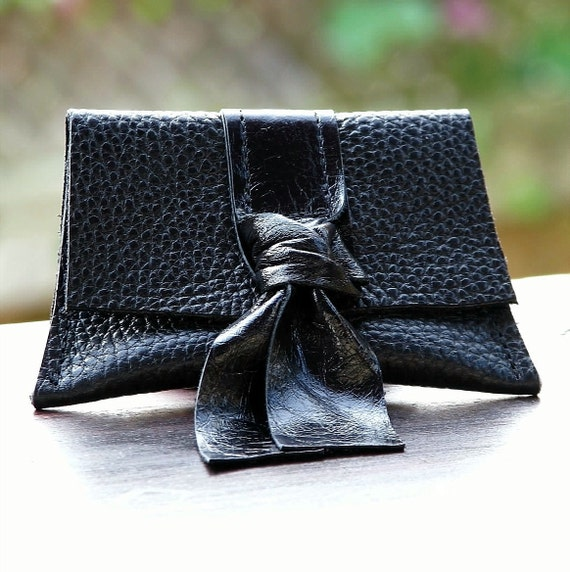 Women's  Leather Coin Purse - Black Patent