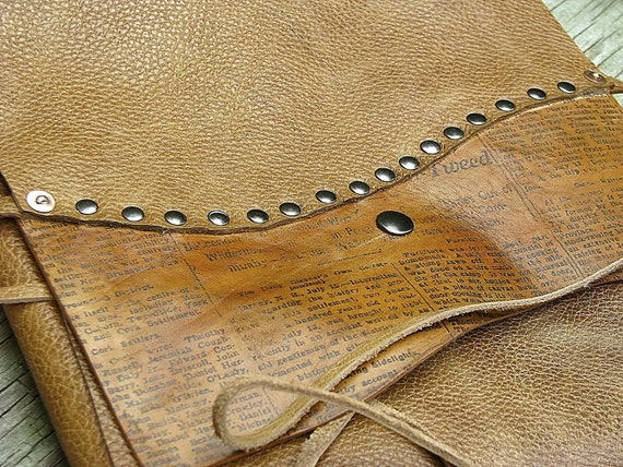 Leather Manuscript - Novel - Thesis Cover - Riveted News in Scotch