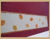 Gorgeous Burgundy Autumn Leaves Card