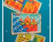 Exotic Havana Cuba Turquoise Vintage Stamp Card - PIF - Pay it forward