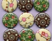 One Inch Magnet Set - Japanese and Italian Florals
