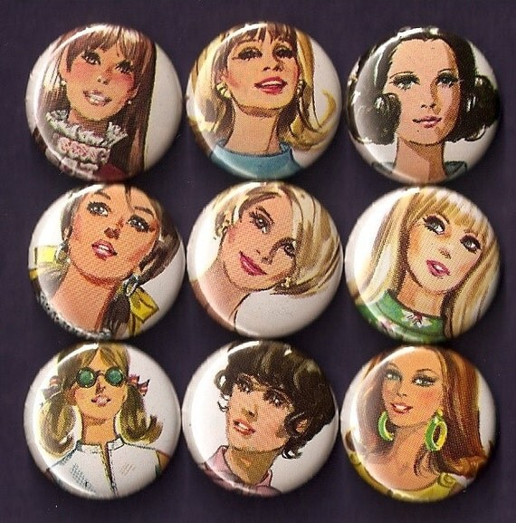 One Inch Magnet Set - Lovely Ladies
