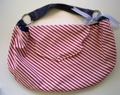 Red Striped Hobo w/ Leather Strap