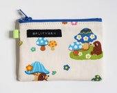 Moles and Mushrooms wee zip notions pouch