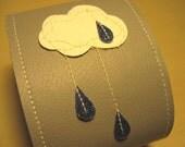 rain cloud vinyl cuff