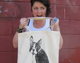 Boston Terrier Canvas Tote - FREE SHIPPING