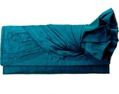 KNOT Clutch in Deep Blue Silk