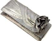 Silver silk Clutch // Bridal clutch in silver silk // Bridesmaids clutch // The KNOT Silk Clutch bag