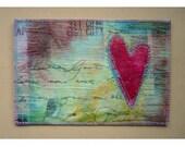 URBAN LOVE Heart Mixed Media Postcard - navylane studio