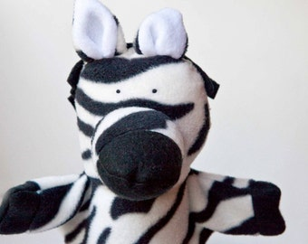 zoe the baby zebra puppet