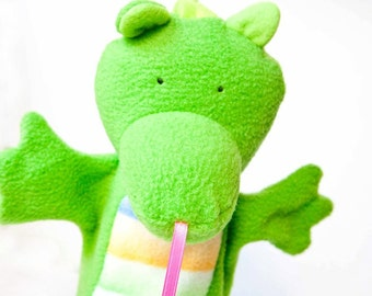 rory the green baby dragon puppet