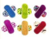 6 Organic Mini Pantyliners Moonpads Washable Cloth Fabric Reusable Cotton Menstrual Pads