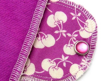 Organic Pantyliner Moonpads Cotton Cloth Pad - Retro Orchid Cherry
