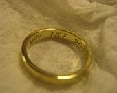 Something Inside Me Swirl Engraved Brass Ring