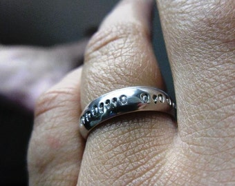 Geek Love Binary Collection Domed Sterling Ring