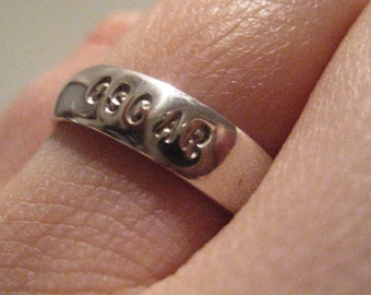 Radio Love Collection Sterling Silver Phonetic Radio Alphabet Ring