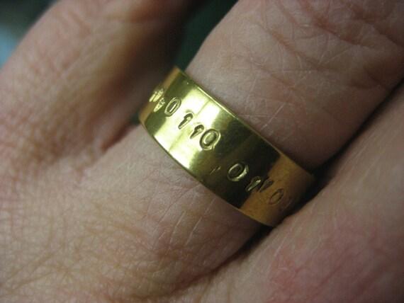 Geek Love Binary Collection Brass Ring