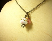 Cute pink maneki neko cat brass necklace id1250762 jewelry, jewellery, luck beckoning cat of japan, collier