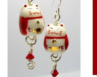 Maneki Neko Cat earrings id1190544