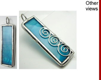Sky id1180627 | soldered stained glass pendant | necklace, chain optional | handmade | jewelry | bohemian | gift for her