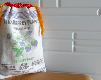 STRAWBERRY BRAND Drawstring Bag