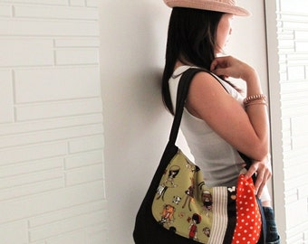Retro GIRLs Saddle Hobo Bag