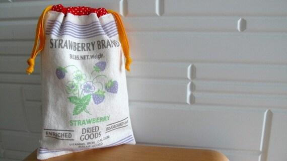 STRAWBERRY BRAND Drawstring Bag