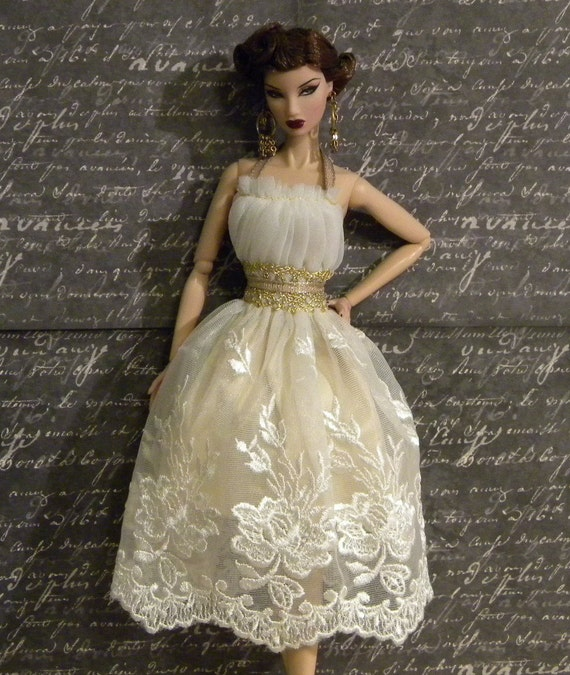 OOAK True Love Fairy Lace Sundress for Fashion Royalty Dolls
