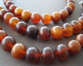 Natural Honey Amber Shade Horn Beads