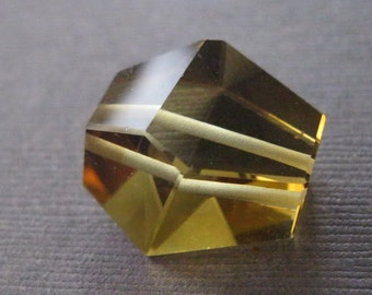 Large Lemon Citrine Simple Cut Bevel Edged Focal Bead Cabochon
