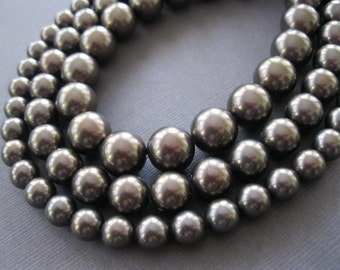 Dark Chocolate Shell Pearl  8mm