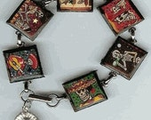 Day of the Dead Print PICTURE BRACELET