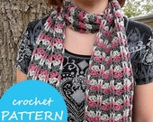 Crochet PATTERN for Cables and Lace Scarf