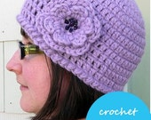 Crochet PATTERN for Quick and Simple Crochet Hat with Flower