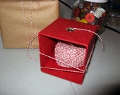 SALE Red and White Baker's Twine with Dispenser