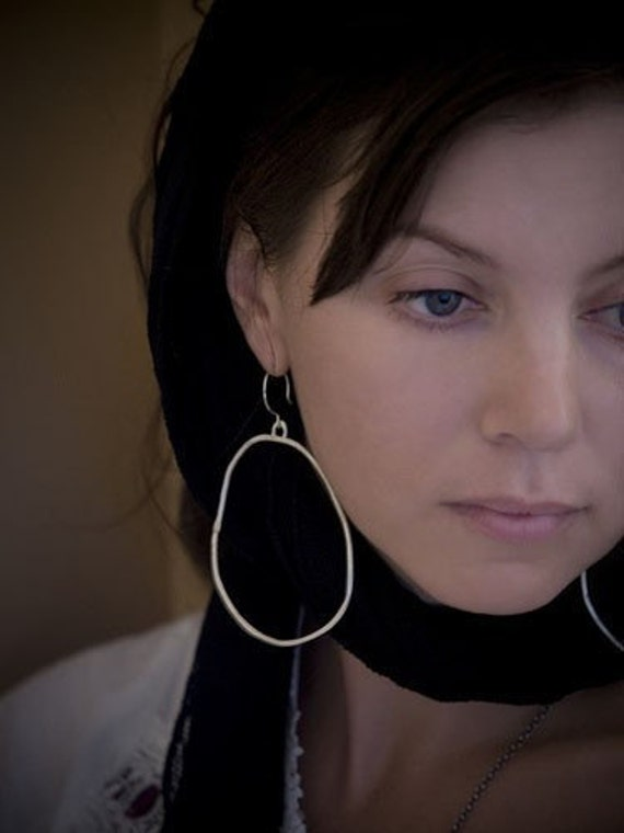 Organic Hoop Earrings - large