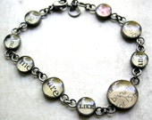 recycled silver biscuits and gravy bracelet